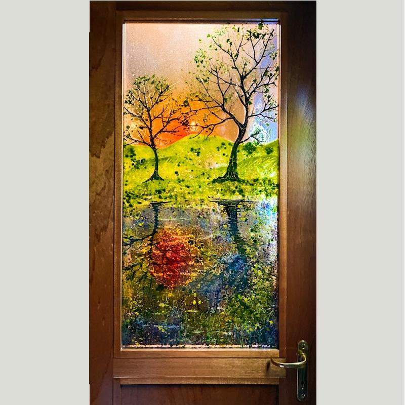 Sunset Reflections Door Panel