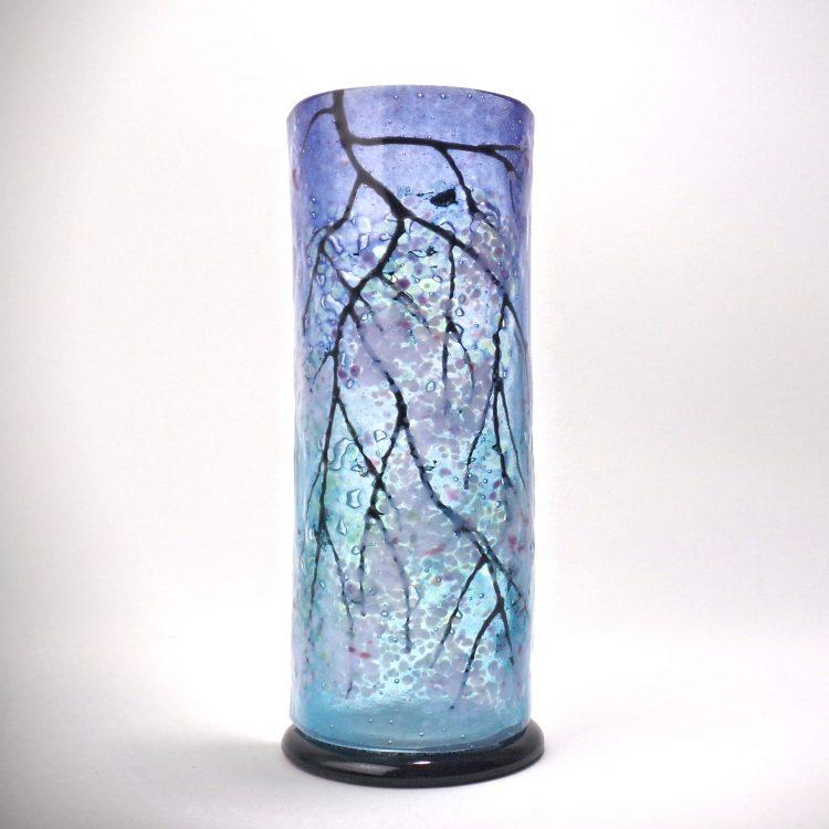 Small Sculpture Blue Cherry Blossom