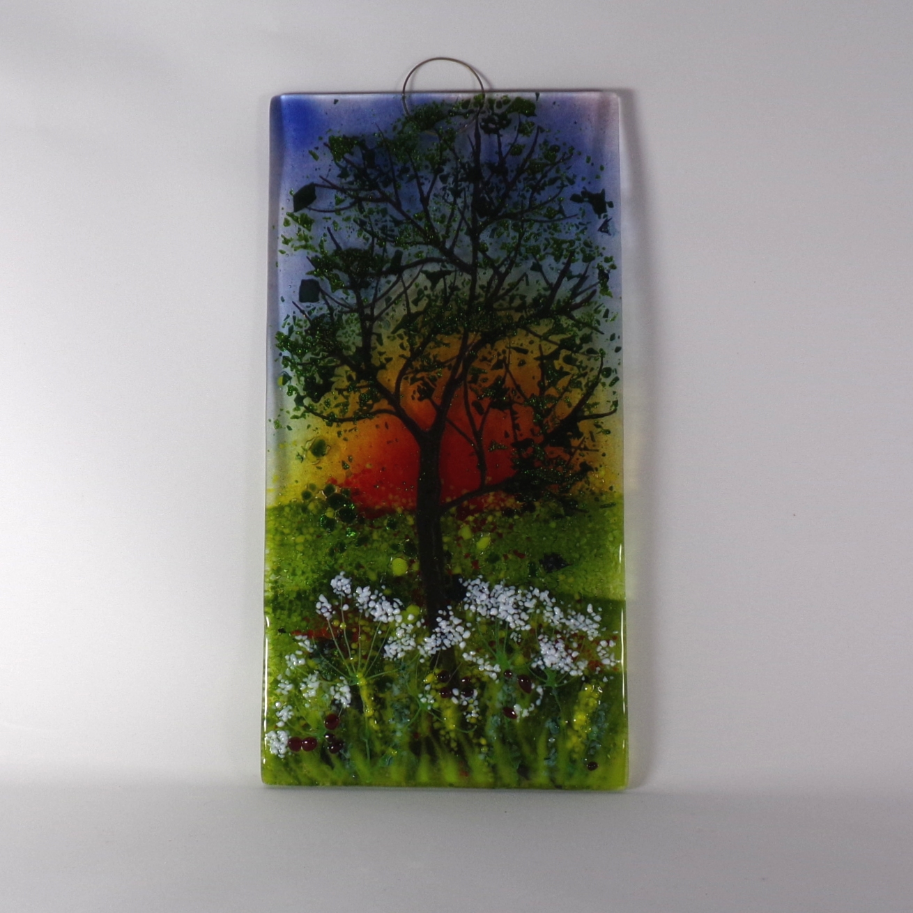 Sunset with Cow Parsley Wall Hanging