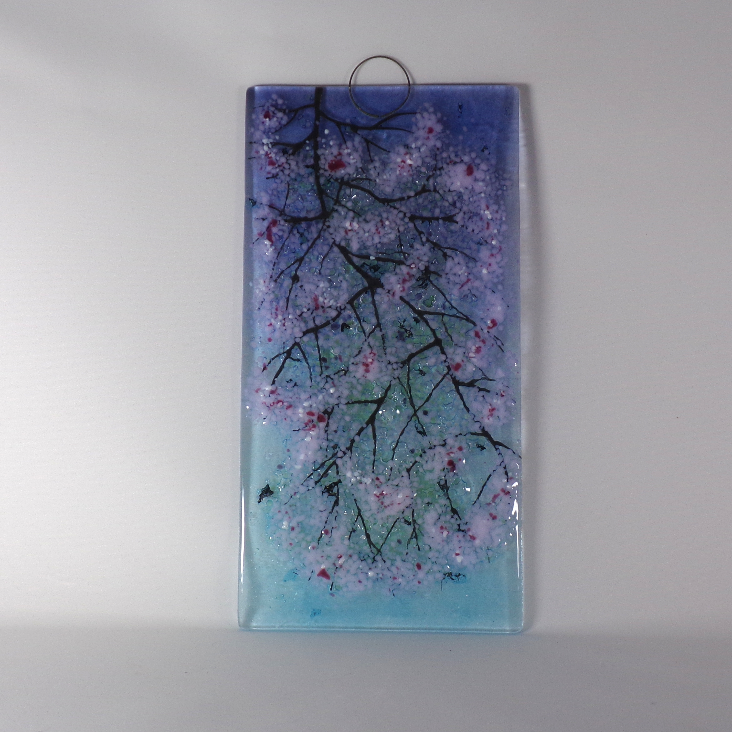 Blue Cherry Blossom Wall Hanging