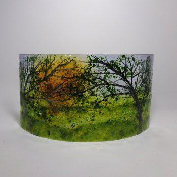 woodland sunset landscape sculpture