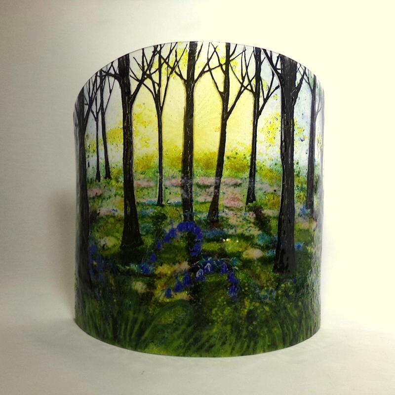 Bluebell wood-glass-sculpture