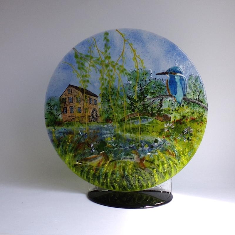 Watermill-glass-disc-sculpture